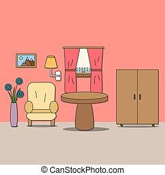 room., デザイン, -, 部屋, モデル