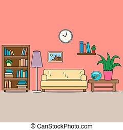 room., モデル, -, デザイン, 部屋