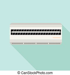 Room air conditioner icon, flat style