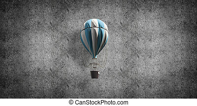 room., balloon, voler, air chaud