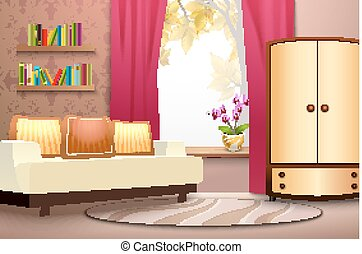 Room Cartoon Interior Illustration