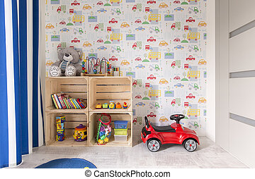 Room designed for little boy - Small room with colorful...