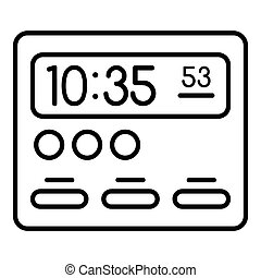 Room digital clock icon, outline style