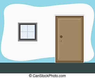 Room Door - Cartoon Background