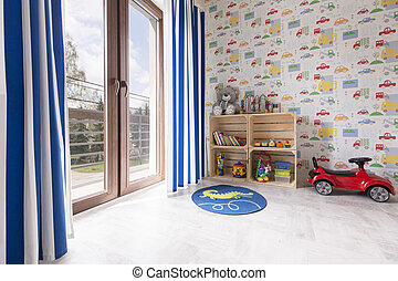 Room for a little car lover