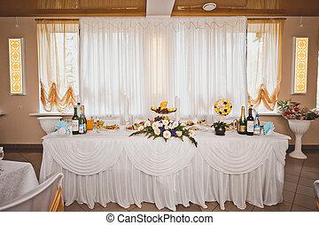 Room for celebration of a wedding celebration 1668.