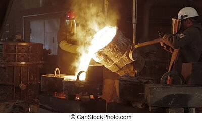 Room for manufacture of metal products by casting. Casting ...