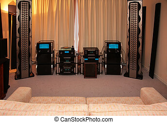 Room for music listening with hi-end system
