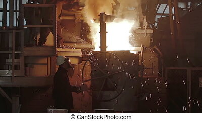 Room for the manufacture of metal products by casting. ...