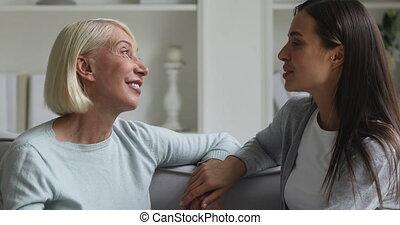 room., générations, vivant, famille, affectueux, deux, ...
