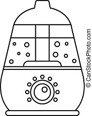 Room humidifier icon, outline style - Room humidifier icon....