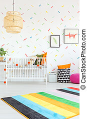 Room in scandi style - White room in scandi style with baby ...