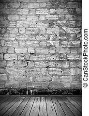 room., intérieur, plancher, vide, mur, vendange