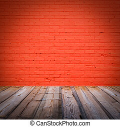 room interior with red  brick wall  background