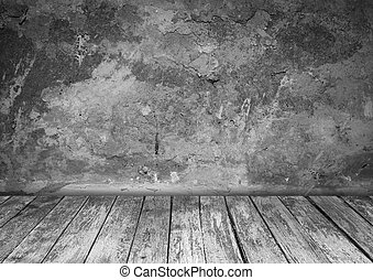 room interior with  wood floor background