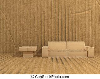 room is made of cardboard