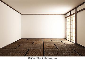 Room Japan Style - Mock up interior design. 3d rendering