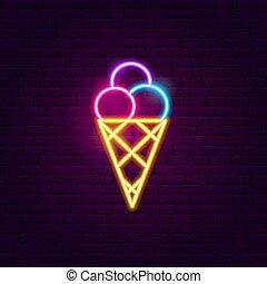 room, neon, ijs, meldingsbord
