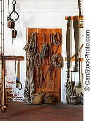 Room of tools and ropes