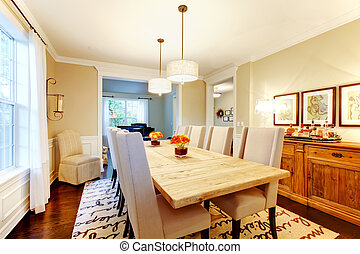 room., restaurang, design, naturlig, hem