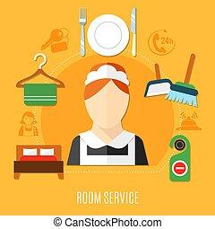 Room Service In Hotel - Room service in hotel design concept...