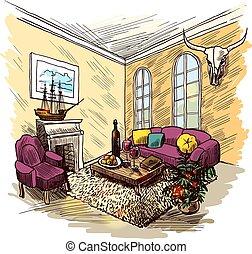 Room Sketch Color