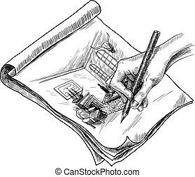 Room Sketch Illustration