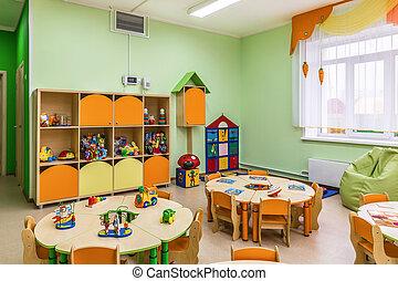 room., spiel, kindergarten