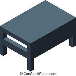 Room table icon, isometric style