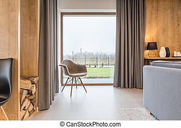 Room with big window