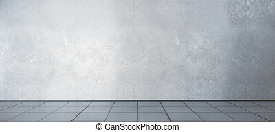 Room with blank wall and tile floor
