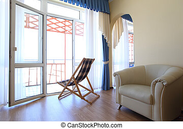 Room with chaise lounge an chair