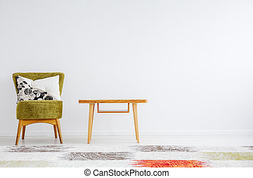 Room with classic wooden table