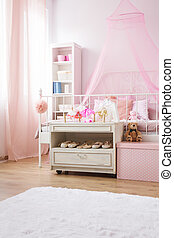 Room with conopy bed