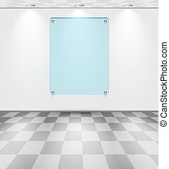 Room with glass placeholder