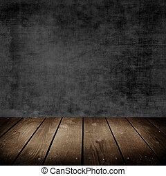 room with grunge cement wall