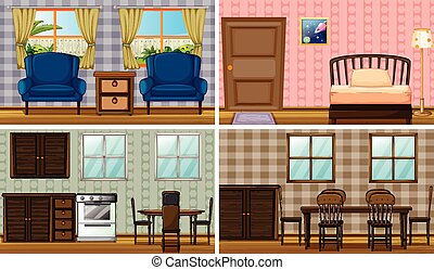 Rooms - Four rooms in the house