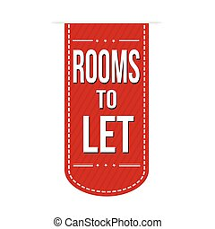 Rooms to let sign or stamp