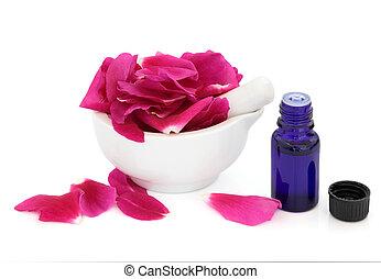 roos, bloem, essentie