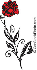 roos, gemaakt, in, eps