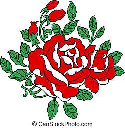 roos, illustratie