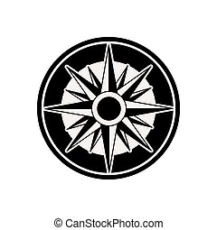 roos, ontwerp, kompas