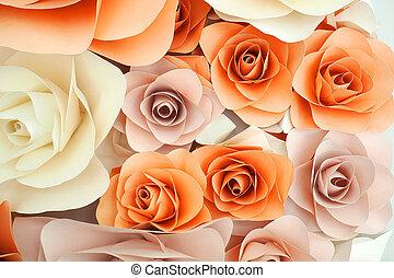 roos, papier, ontwerp, achtergrond