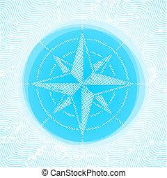 roos, vector, kompas