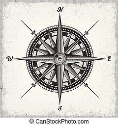 roos, witte , black , kompas