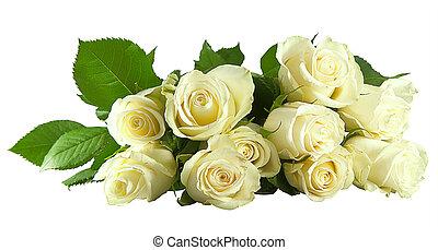 roos, witte , bos