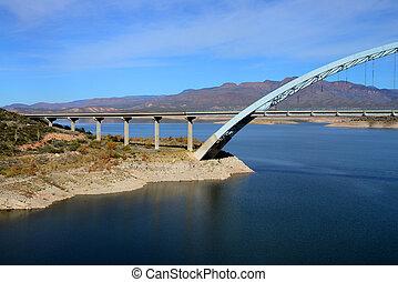 Roosevelt Bridge in southeast Arizona - Roosevelt Bridge and...