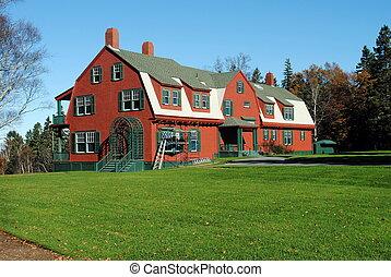 Roosevelt Summer Cottage, Campobello Island, New Brunswick, ...