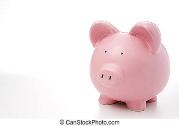 rooskleurige piggy bank