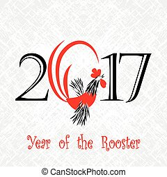 Rooster bird concept of Chinese New Year of the Rooster....